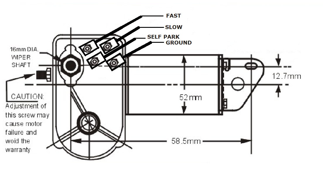 two speed windshield wiper motor