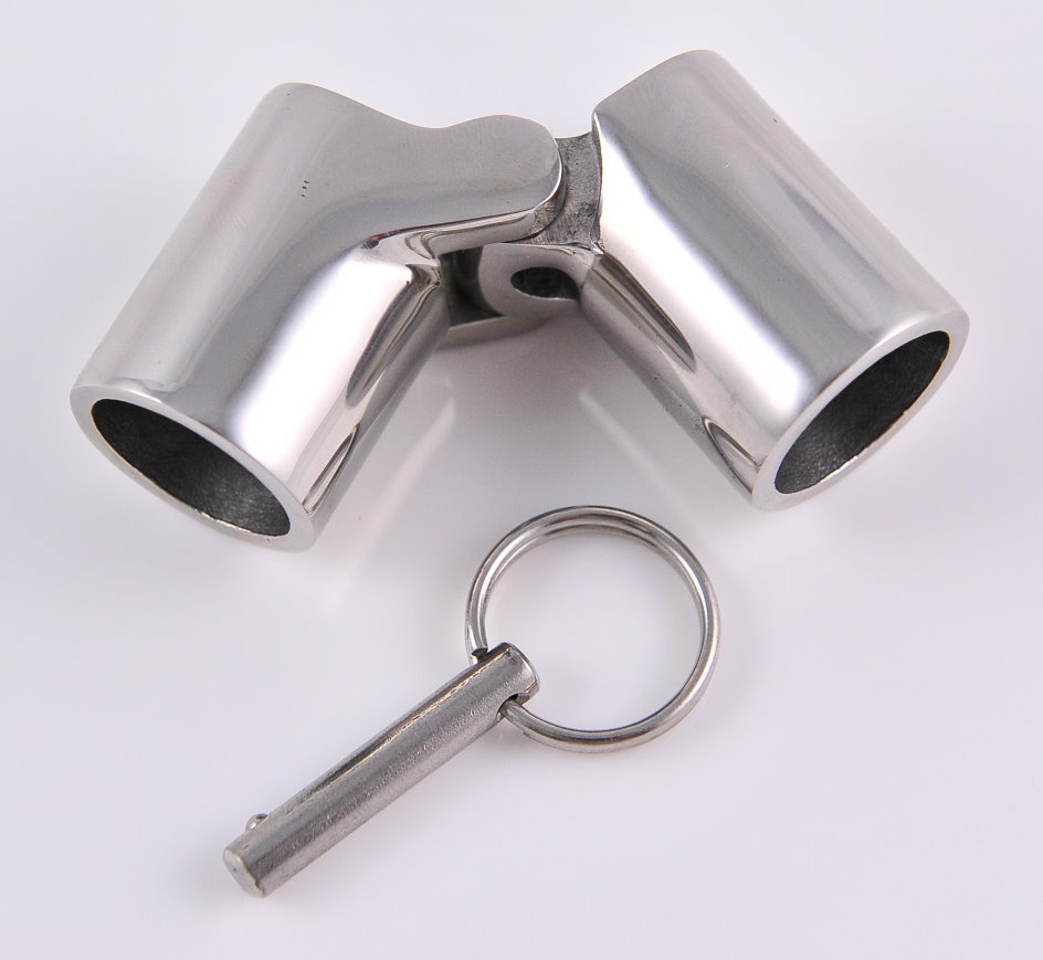 Stainless steel external locking tube hinge with quick